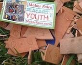 Leather Tooled Scraps