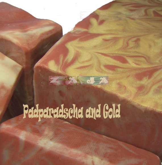 Padparadscha and Gold Pure Handmade Soap