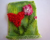 Love Blooms in the Glade - Fiber ACEO - WINNER of HeartsandFlowers Contest