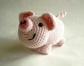 Crochet Cotton Pig Plush Toy