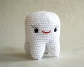 Crochet Tooth Fairy Plush - Pearl