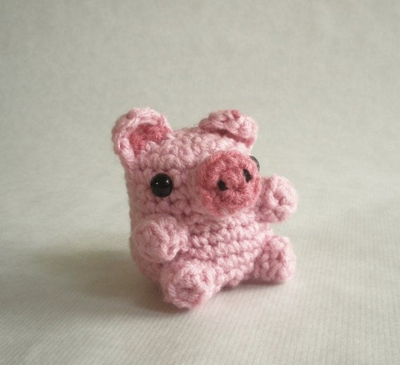 Mini Pig Crochet Farm Plush Toy