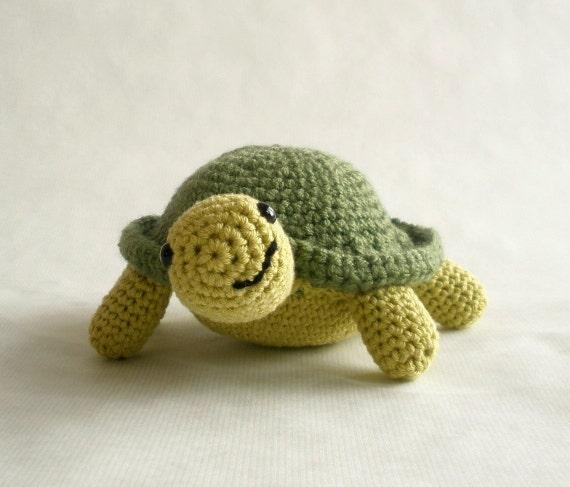Crochet Cotton Turtle Plushie