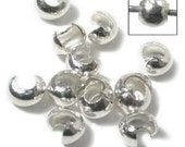 CRIMP BEAD COVER STERLING 3MM 5 AND A HALF GRAM APPRX 100 PIECE (CBC100)