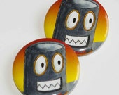 Robot Head 1.5 inch button or magnet