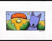 A Blue Dingo - Original Painting \/ Acrylics on Canvas