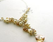 Vintage Orchids Necklace -- RESERVED for betti --