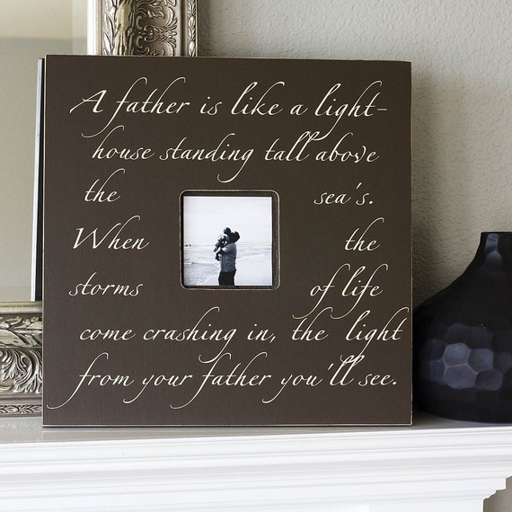 A Father is Like a Lighthouse Fancy Frame Photo Memory Quote