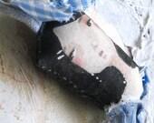 Imaginary Friend stuffed Art Doll Keychain\/ zipper pull