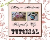 Get Emailed Instructions ASAP for STOCKING STUFFERS --Craft Tutorial - - Make Your Own Penny Hair Ponies and Kate Clips