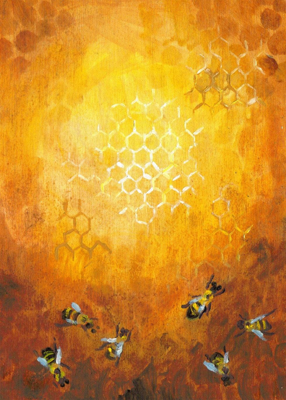 Glowing Beehive Painting