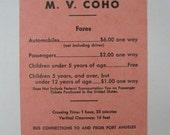 vintage ferry schedule