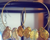 Golden Leaf Hoops