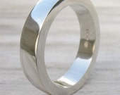 Chunky Men's Ring - Sterling Silver - Handmade to Size