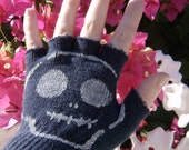 Pirate Jenny's Fingerless Gloves - Navy - One Size Fits Most