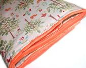 Orange Woodland Minky Blanket - Reserved
