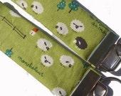 HOLIDAY SALE Sheep on Green Key Fob
