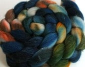 DISCOUNTED - High tide -- dyed Merino silk top / roving (4.2 oz.)