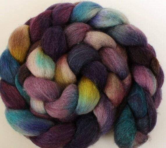 Laughing potion -- dyed BFL silk top / roving (4.1 oz.)