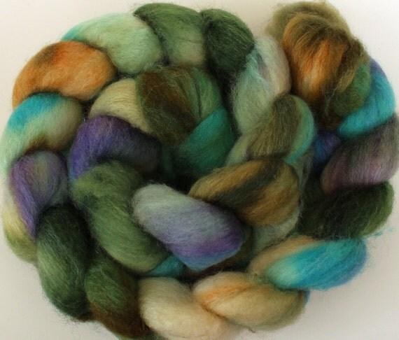 Tide pool -- dyed BFL silk top / roving (4 oz.)