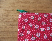 SALE Flower print coin pouch - free shipping