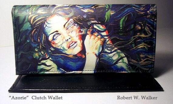 RW2 Ladies Leather Clutch Wallet Mermaid Azorie by Robert Walker