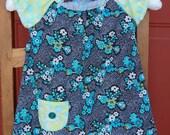 Funky Floral Raglan Dress 3T