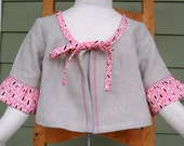 Fall Preview Linen and Polka Dot cropped JACKET size 5T