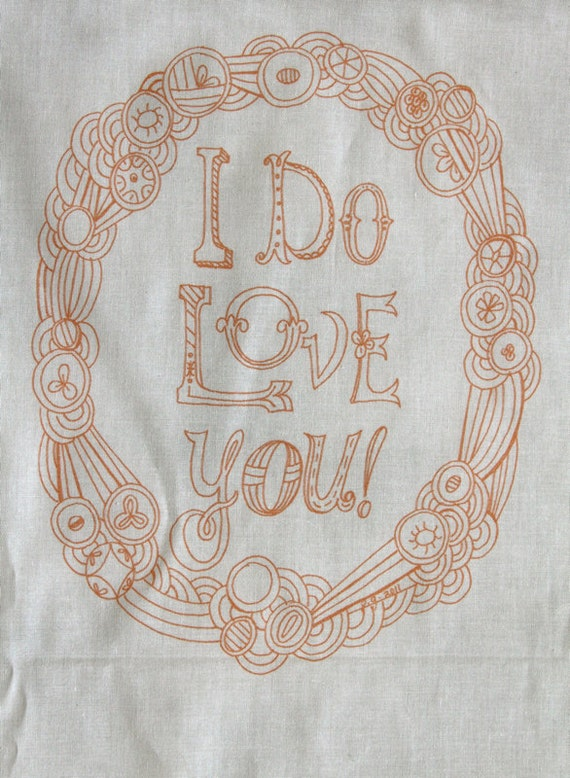 I Do Love You embroidery sampler pattern