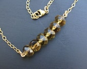 Topaz and Gold Filled Necklace