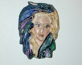Dragon and Lady Clay Face ready for you to use in your Art Cameo CABOCHON