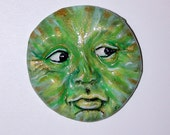 Green Goddess Face ready for you to use in your Art Cameo CABOCHON