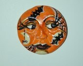 Halloween Bat and Spider Face ready for you to use in your Art Cameo CABOCHON