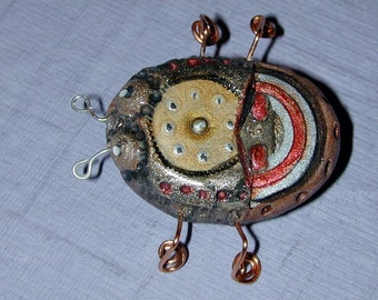 Sparky the Steampunk Bug with Watch Part Impressions