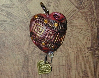 Steampunk Tin Man Heart pendant Great for Valentines Day