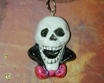 Happy Skull Day of the Dead Pendant with Glow in the Dark Fun