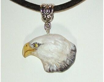 Pretty  Bald Eagle Handmade Pendant Handmade