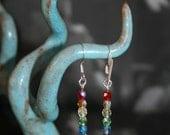 Czech Glass Rainbow Earrings