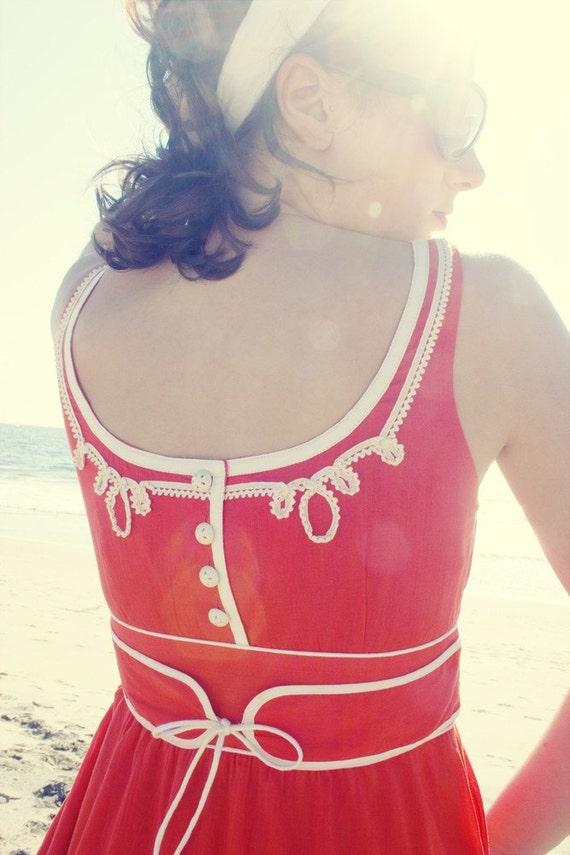 Retro Red Vintage Dress