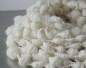 SNOWBALLS handspun Merino wool yarn coils