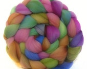 FALKLAND roving top handdyed wool spinning fiber 3.4 oz