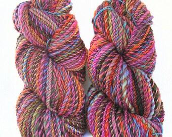 Handspun Yarn handdyed BFL wool