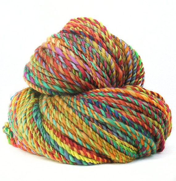 handspun yarn handdyed superwash Merino wool COLOUR me IN