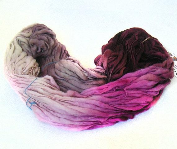 handspun handdyed Merino wool yarn