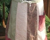 Earthy Paisley Hippie Patchwork Skirt