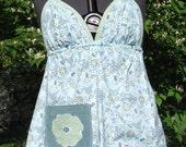 Floral Hippie Bohemian Halter Top - Hippie Clothes - Handmade -