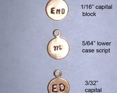 Metal brand label tags for your jewelry, crafts -  7mm Raw Brass with loop-  100pcs