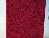 Red Paisley Sketch book