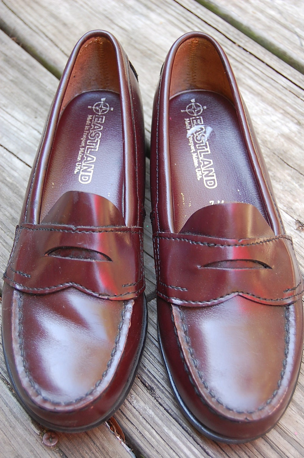 80s Vintage Clothing In The Uk Just Got Easier: Vintage 80s Eastland Classic Preppy Penny Loafers Weejuns