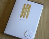 Merci - Baguettes - Box of 6 Handmade Cards